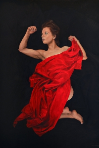 Vrouw in Rood